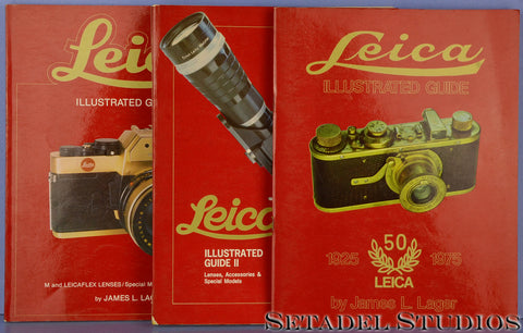 LEICA LEITZ BOOKS JAMES L LAGER ILLUSTRATED GUIDE VOL 1-3 COLLECTION COMPENDIUM