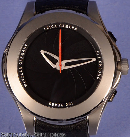 LEICA LEITZ 100 YEARS VALBRAY OCULUS EL1 CHRONO WATCH #10/50 +BOX MINT! GREY