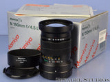 MAMIYA 7 7II N 150MM F4.5 L RANGEFINDER LENS +BOX +SHADE +CAPS MINT!