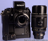 NIKON F3 AF SLR CAMERA +80MM F2.8 + 200MM F4 ED + MD-4 MOTOR +DX-1 FINDER +MK-1