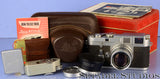LEICA M3 EARLY #700338 CAMERA SET +50MM SUMMICRON F2 +TAG +SPECIAL BASE WOW!