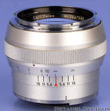 CONTAREX ZEISS PLANAR 55MM F1.4 CHROME LENS CLEAN NICE