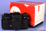 LEICA LEITZ LEICAFLEX SL 10012 BLACK SLR BODY +BOX +CAP NICE! WORKING METER!