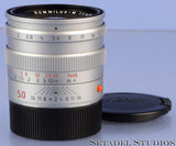 LEICA LEITZ 50MM SUMMILUX-M F1.4 CHROME 11855 PRE ASPH M LENS BRASS +CAPS MINT
