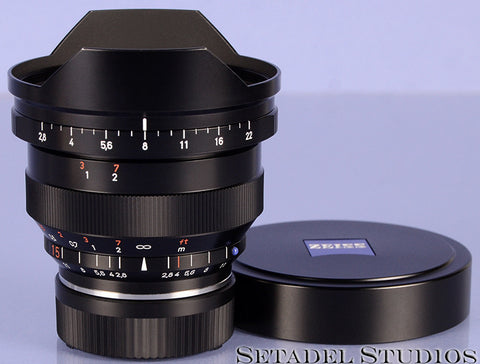 Leica f/ Zeiss 15mm Distagon F2.8 T* ZM Lens w/ Caps