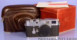 LEICA LEITZ M3 #700105 VERY EARLY 1954 CHROME CAMERA W/ BOX +CASE RARE