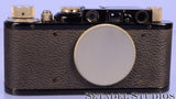 Leica Leitz II (Model D) Black Paint SM Rangefinder Camera Body with Cap