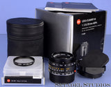 LEICA 28MM ELMARIT-M F2.8 ASPH 11606 6BIT BLACK M LENS +BOX +SHADE +FILTER +CAPS