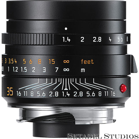 LEICA 35MM SUMMILUX-M FLE F1.4 6BIT 11663 ASPH BLACK M LENS. SEALED NEW IN BOX!