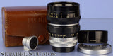 LEICA FUJI FUJINON 100MM F2 SM LTM SCREW MOUNT LENS +VIEWFINDER +CAPS +CASE RARE