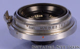 CONTAX ZEISS JENA 28MM TESSAR F8 CHROME RANGEFINDER LENS NICE! RARE!