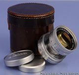 LEICA LEITZ 50MM SUMMICRON F2 LANTHAR LENS +CAPS RARE EARLY 6 DIGIT #995245 NICE