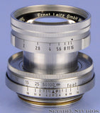 LEICA LEITZ 50MM SUMMICRON F2 CHROME LTM M39 COLLAPSIBLE SM LENS +CAP YELLOW