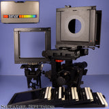SINAR P2 4X5 LARGE FORMAT STUDIOS RAIL CAMERA +BELLOWS +FILM HOLDERS +CASE +MORE
