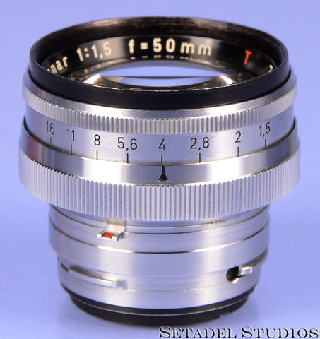 CONTAX ZEISS-OPTON SONNAR T COATED 50MM F1.5 C LENS CLEAN NICE