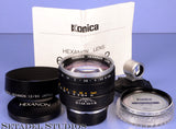 LEICA SM KONICA 60MM HEXANON F1.2 LENS +VIEWFINDER +SHADE +UV FILTER RARE MINT!