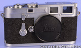 LEICA LEITZ M3 DS CHROME RANGEFINDER CAMERA BODY 1954 EARLY SN. 700878 NICE