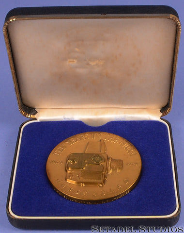 HASSELBLAD 10 YEARS ON THE MOON COMMEMORATIVE BRONZE COIN + ORIGINAL DISPLAY BOX