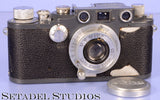 Leica Leitz IIIck Grey Paint Wartime WWII SM Camera w/ Elmar 50mm f3.5 Lens +Cap