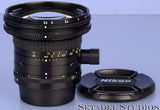 NIKON PC-NIKKOR 28MM F3.5 PERSPECTIVE CONTROL LENS +CAPS MANUAL FOCUS CLEAN NICE