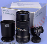 MAMIYA 7 7II N RANGEFINDER 210MM F8L LENS +BOX +CAPS +SHADE +FINDER +PAPERS MINT