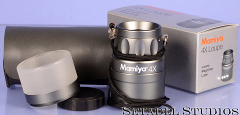 MAMIYA 6 and 7 4X LOUPE MAGNIFIER GREY METAL LOUPE +BOX +CASE NEAR MINT