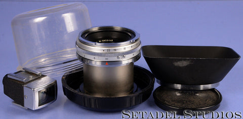 CONTAREX 21MM ZEISS BIOGON F4.5 CHROME SLR LENS +SHADE +VIEWFINDER VERY NICE!