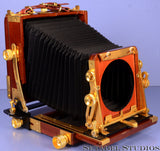 TACHIHARA 45 4X5 TECHNICAL FIELD CHERRY WOODEN LARGE FORMAT CAMERA