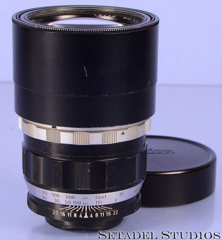 Leica Leitz 200mm Telyt F4 LTM Screw Mount Viso Visoflex Lens Clean #11063 (TELOO)