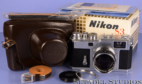 NIKON S3 CHROME CAMERA OUTFIT +50MM NIKKOR-S F1.4 +BOX +PAPERS MINT! AMAZING!