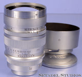 Leica Leitz 85mm Summarex F1.5 Chrome SM Lens with Hood Rare