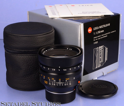 LEICA LEITZ 50MM NOCTILUX-M F1 BLACK 11822 4TH VER E60 LENS +BOX +CAPS MINT