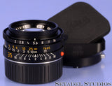 LEICA 35MM F2 SUMMICRON-M E39 4TH V WETZLAR 11310 BLACK LENS *KING OF BOKEH MINT