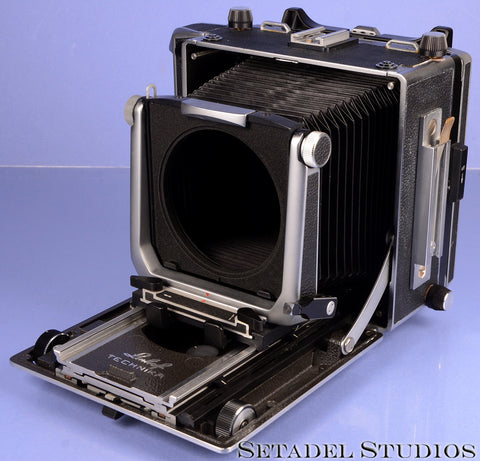 LINHOF MASTER TECHNIKA BLACK 4X5 FIELD CAMERA BODY LEATHER CLEAN NICE WIDE ANGLE