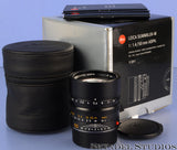 LEICA 50MM SUMMILUX-M F1.4 6BIT BLACK ASPH 11891 M LENS +BOX +CASE +CAPS MINT