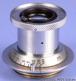 LEICA LEITZ 50MM ELMAR F3.5 RED SCALE CHROME COLLAPSIBLE LENS RARE NO SERIAL #