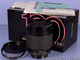 CONTAX C/Y RTS 100MM MAKRO-PLANAR F2.8 T* AEG AUTO GERMAN LENS +1A MC MINT +BOX!