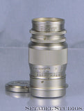 Leica Leitz 90mm Elmar F4 Rare All Chrome SM Screw Mount Lens - Leica Lens - Setadel Studios Fine Photographic Equipment - 1
