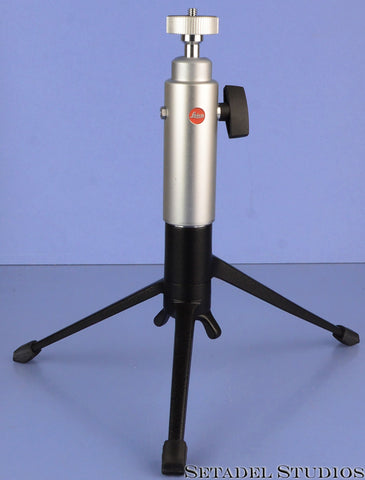 LEICA LEITZ 14121 CHROME TABLETOP BALL AND SOCKET LATE VERSION TRIPOD MINT