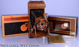 "KODAK WALTER DORWIN TEAGUE DESIGNED  ""A1 GIFT"" FOLDING CAMERA W/ CASE +PAPERS"