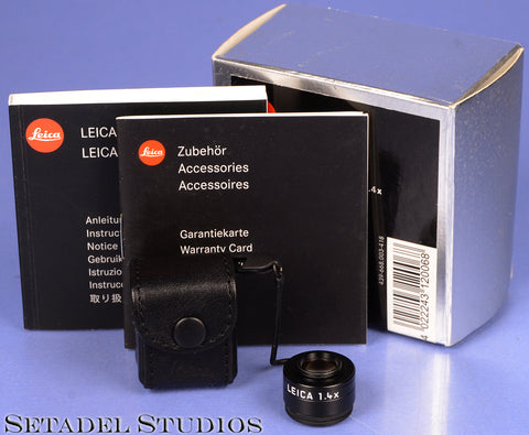 LEICA LEITZ 12006 VIEWFINDER MAGNIFIER M 1.4X ATTACHMENT +BOX CLEAN NICE