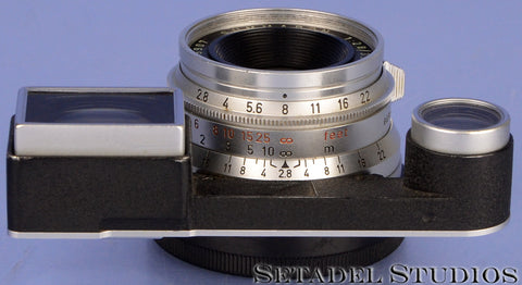 LEICA LEITZ 35MM SUMMARON F2.8 11106 CHROME M3 LENS +EYES ATTACHMENT +CAP