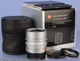 LEICA LEITZ 50MM SUMMILUX-M F1.4 CHROME ASPH 11892 6BIT M LENS +BOX +FILTER MINT
