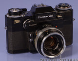 Contarex Super Black Camera Body w/ Zeiss 50mm f2 lens RARE