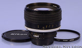 NIKON NIKKOR 85MM F1.4 AI-S F BLACK MANUAL FOCUS LENS +CAPS +L37C FILTER CLEAN