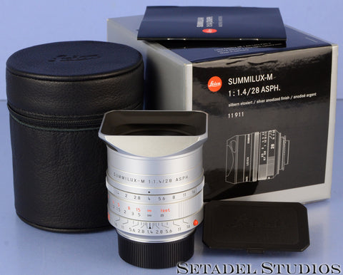 LEICA 28MM SUMMILUX-M F1.4 ASPH 6BIT 11911 CHROME M LIMITED LENS! xxx/300 RARE!