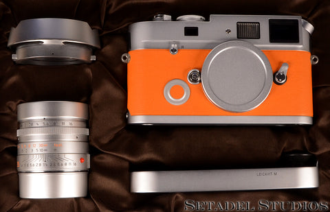 LEICA M7 HERMES VEAU SWIFT ORANGE CAMERA +35MM SUMMILUX ASPH +ONLY 100 MADE RARE
