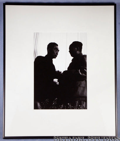 Zhou Enlai and Mao Zedong Vintage Leica Silver Print