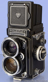 ROLLEIFLEX ROLLEI 55MM DISTAGON ZEISS WIDE TLR CAMERA W/ METER +CASE +CAPS RARE!