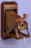 "KODAK ""A1 GIFT"" CAMERA WALTER DORWIN TEAGUE ART DECO DESIGN +WOOD BOX NICE!"